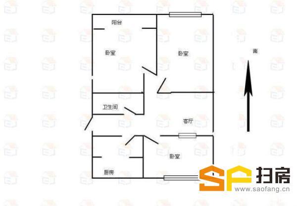 (出售) 良村管委会宿舍52万3室一步到位,税费低普通装修急售