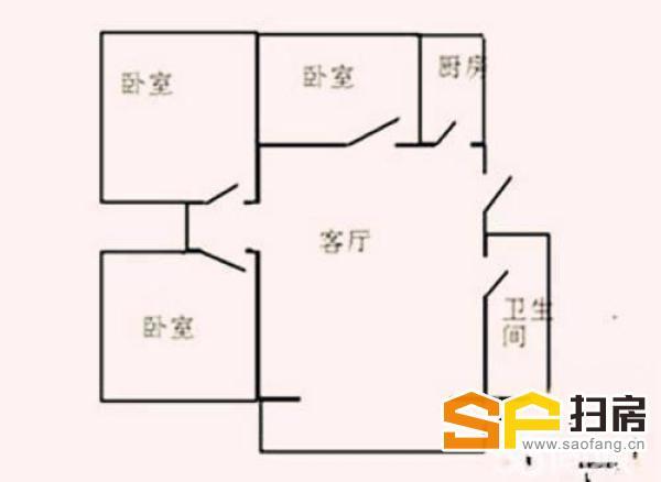 (出售) 安顺居 简装 三室两厅两卫 首付低 低价出售