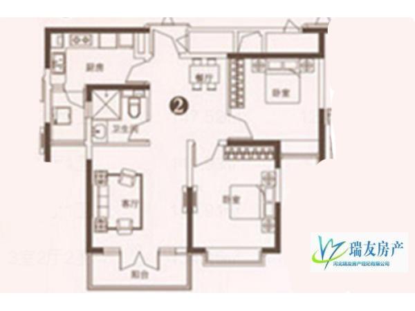 精装 99m² 南北 石家庄 恒大御景半岛 2房 132万元 ,舒适,视野开阔