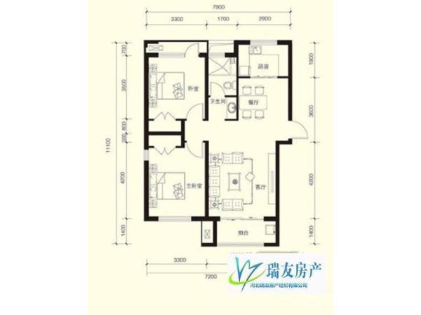 紫鑫苑 石家庄 简装 83m² 南北 1万元 2房 居住上学不二选择!
