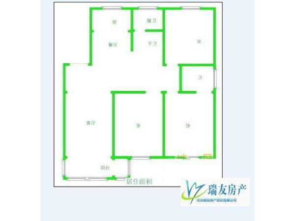 精装 华清家园 3房 125m² 南北 石家庄 165万元 ,真诚急售,升值潜力无限!