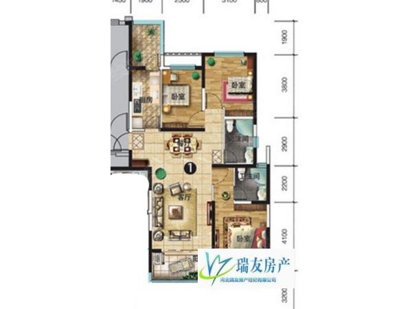 石家庄 183万元 131m² 精装 3房 恒大御景半岛 南北 适合投资和人多的家庭