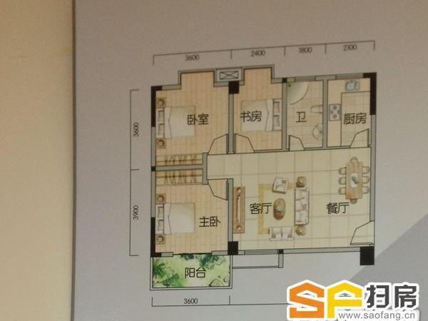 南北通透三房房屋平面设计图分享展示