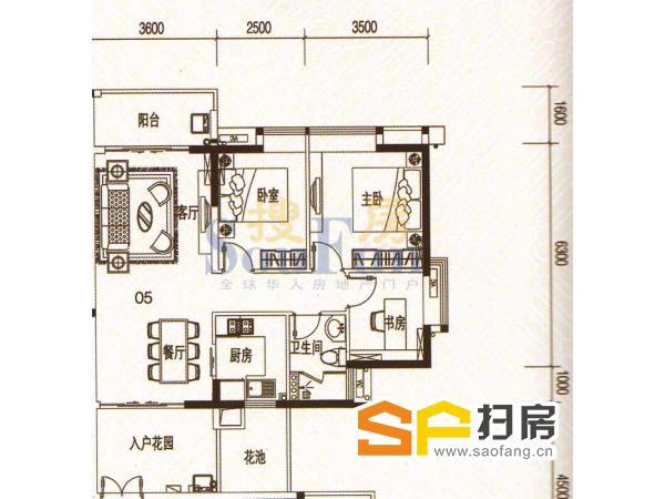 君华香柏广场精装3房,产权清晰,可改4房